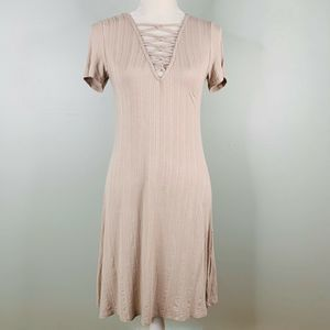 Favlux Fashion Dress Beige Large SS Stretch Soft